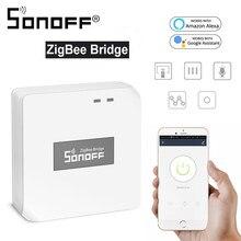 Sonoff zigbee ponte hub interruptor inteligente casa diy temporizador inteligente casa assistente de controle voz trabalho com alexa e google casa