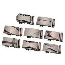 Металл автоматический слайдер пряжка замена трещотка ремень пряжка формальный прямоугольный бизнес ремень аксессуары для мужчин
