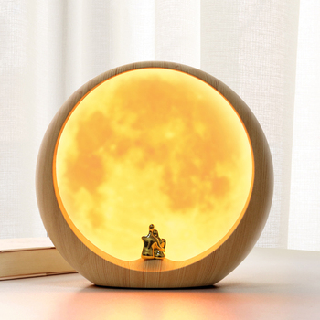LED Moon Atmosphere Table Reading Lamps Charging Bedside Table Lamp Bedroom Interior Bedroom Study Living Room Night LightGifts