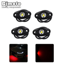 купить Drop shipping 4Pcs Underbody Car ATV white yellow blue red green LED Light Rock Light Kit Glow Trail Lamp For Jeep Auto Truck дешево
