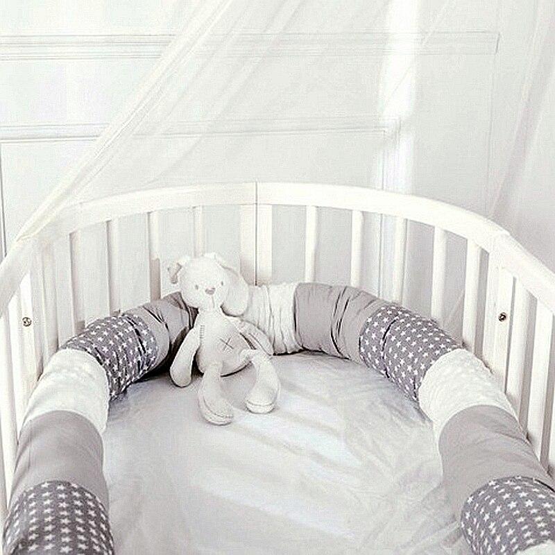 Baby Bett Stoßstange für Krippe Neugeborenen Nodic Dicke Weiche Krippe Protector Baumwolle Patchwork Kinderbett Kissen Kid Infant Schlaf Sicher Zimmer decor