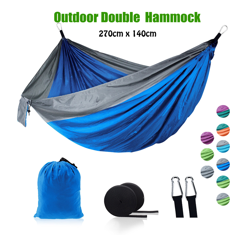 Portable Hammock Double Person Camping Survival Garden Swing Hanging Sleeping Chair sleeping travel swing Parachute Hammocks