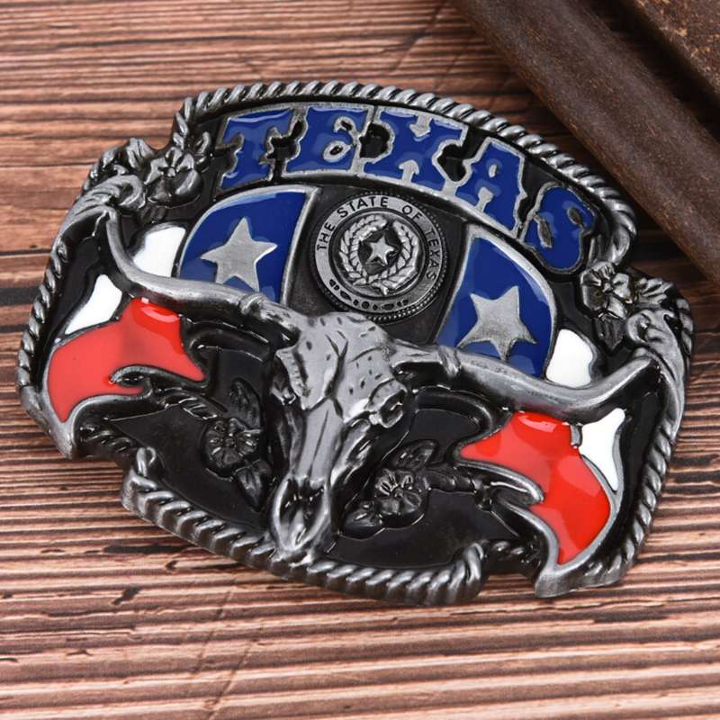 DIY Belt Buckle American West Cowboy Belt Buckle Cow Head Belt Accessories Texas Style Belt Cowboy Cowgirl Boucle