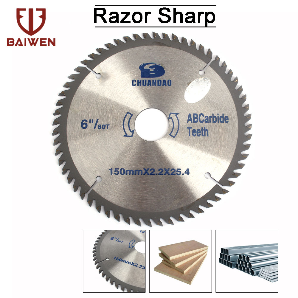 150mm/180mm/200mm/230mm Woodworking Circular Saw Blades 40T/60T For Angle Grinder Cutting Disc