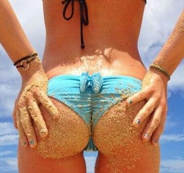 2019 Europe And America Hot Selling Swimwear Bikini Bow Sexy Low-Rise WOMEN'S Swimming Trunks