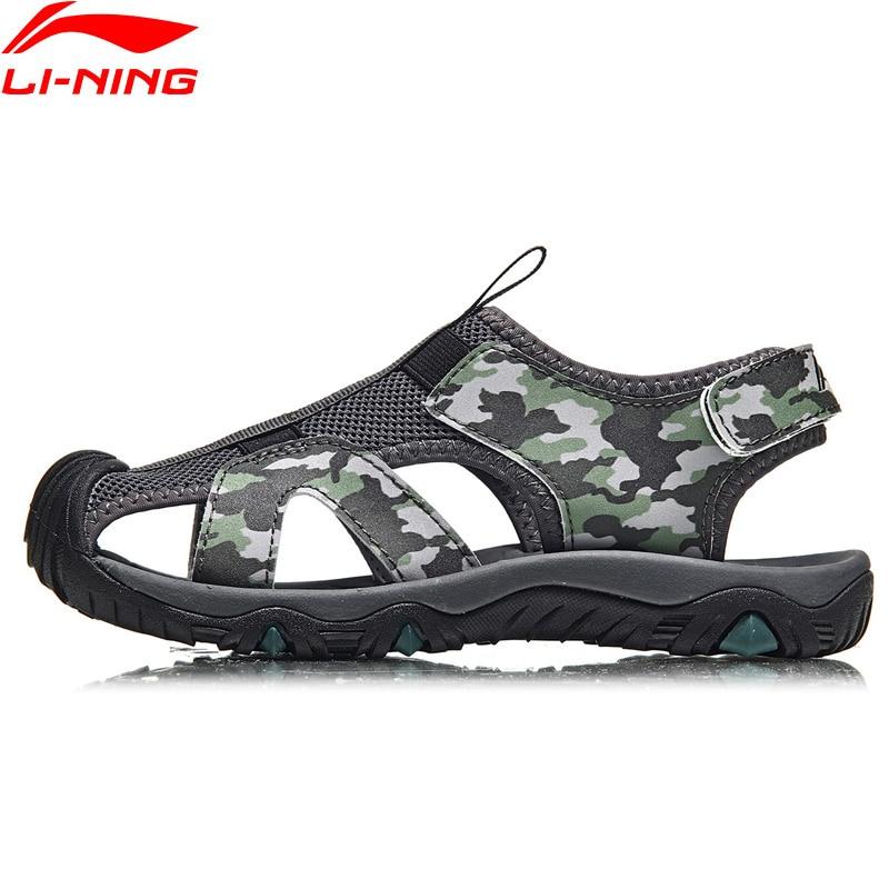 Li-Ning Children's Aqua Shoes Outdoor Sandals Breathable Camouflage LiNing Kids Li Ning Sport Shoes Sneakers YKUN006 XTL036