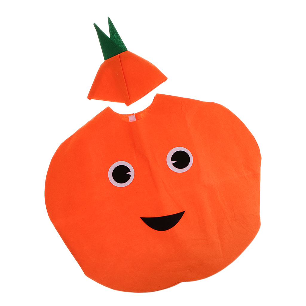 Boy Girl Orange Costume Fruit Family Funny Cosplay Kids One Piece Orange Outfit Party Fancy Dress Stage Performance Clothes
