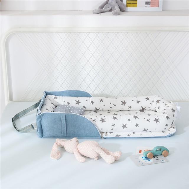 Baby Cradle Bumper Nest Portable 6