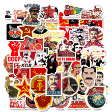 50 PCS Mixed Soviet Union Stalin USSR CCCP HET Stickers Waterproof PVC Skateboard Guitar Phone Luggage Laptop Motorcycle Sticker