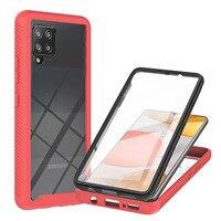 Funda de teléfono para Samsung Galaxy, Protector de pantalla transparente a prueba de golpes, anticaídas, para modelos A02, A12, A32, A52, A72, A42, 4G y 5G, 360