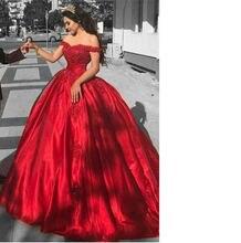 Красные платья для выпускного вечера с открытыми плечами 2019
