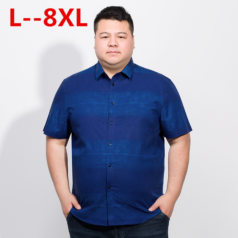 Plus Size 10XL 8XL 6XL  New Arrival Men Shirt Fashionable Casual Male Brand Clothing Printed Loose Camisa Social Masculina