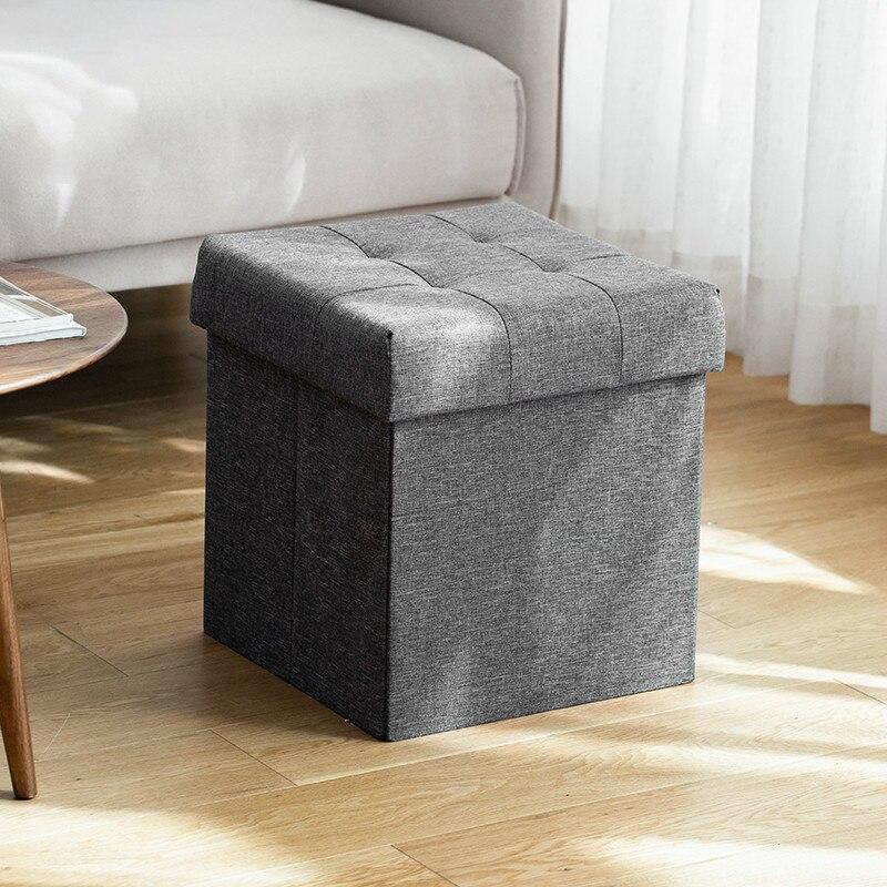 Storage stool fabrics sofa footstool foldable change shoes bench storage box toy debris organizers storage bench mx9201643