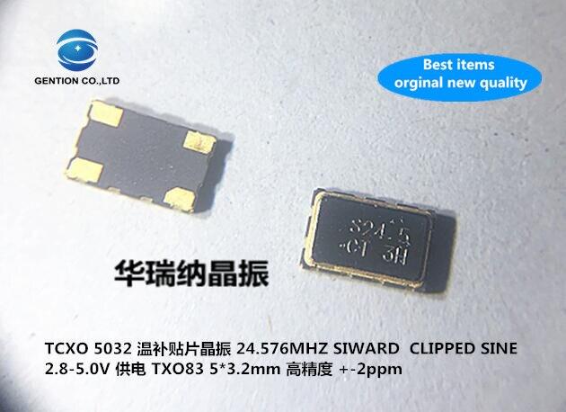 5pcs 100% New And Orginal TCXO Temperature Subsidy Chip Crystal 5032 24.576M 24.576MHZ High Precision 4-pin + -2PPM