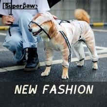 Dog Raincoat Corgi Shiba Inu Jacket Transparent Pug Waterproof Large for Small Medium