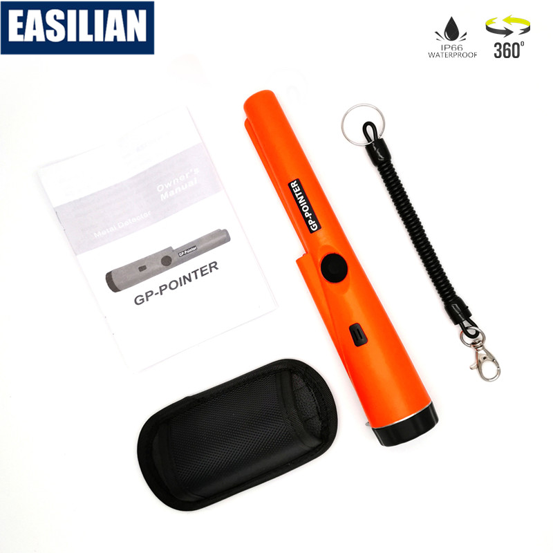Portable Metal Detector Handheld Pinpointer 360 Search Coin Gold Underground Cable Finder Waterproof IP66 Mini Security Tester