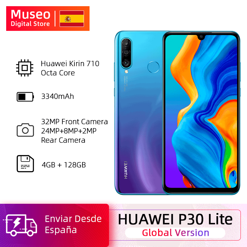 Global Version Huawei P30 Lite 4GB 128GB Smartphone 6.15 Inch Kirin 710 Octa Core 32MP Front Camera Android 9.0 No NFC