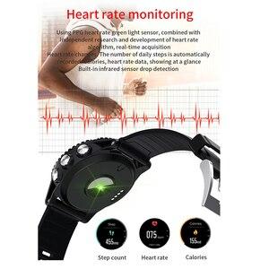 Image 3 - 2020 sport inteligentny zegarek mężczyźni muzyka Bluetooth informacje Push pomiar ciśnienia tętna wysokość połączeń przypomnienie Smartwatch