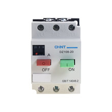 CHNT DZ108 20/211 10A ป้องกันมอเตอร์มอเตอร์สวิตช์ Circuit Breaker 3VE1 6.3A 10A3 POLE MCCB Molded Case Circuit breaker