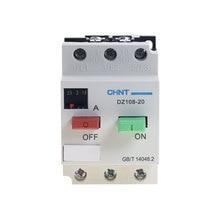 CHNT DZ108 20/211 10A ochrona silnika silnika przełącznik obwodu wyłącznik 3VE1 6.3A 10A3 słup i wyłączniki kompaktowe MCCB wyłączniki silnikowe