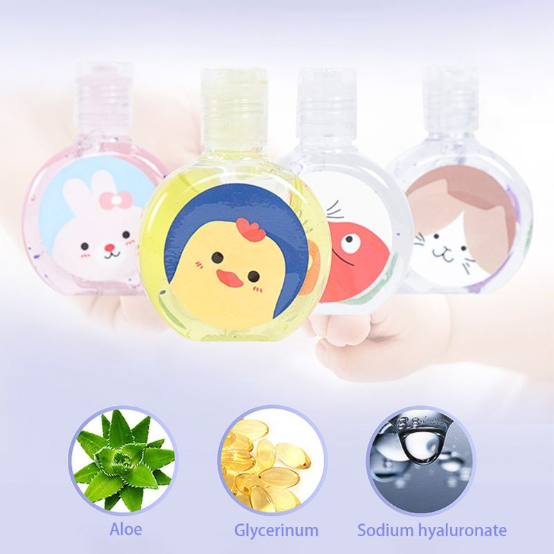 30ml Cartoon Animal Travel Portable Mini Hand Sanitizer Disposable No Clean Waterless Fresh Scented Gel Shampoo Hand Soap