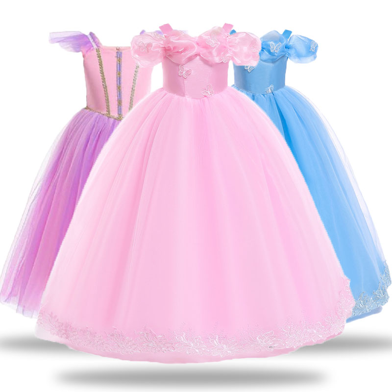 Kids Girls Baby Party Performance Princess Dress Halloween Costume Xmas Dress