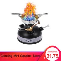 Camping Mini Gasoline Stove Outdoor Cookware Portable Outdoor Liquid Fuel Alcohol Diesel Oil Stove for Hiking Hunting Emergency