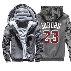 Image 3 - Sudadera con capucha gruesa número 23 para hombre, chaqueta con capucha de lana cálida informal para hombre, ropa de calle, chaquetas para hombre, abrigos Harajuk para hombre, Sudadera con capucha Hip Hop 2019