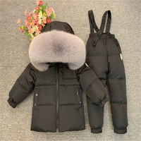 Kids Winter Down Clothing Sets Children Ski Coat Jacket And Overalls Suit For Toddler Baby Boys Girls 1 12 Years Snowsuit TX101