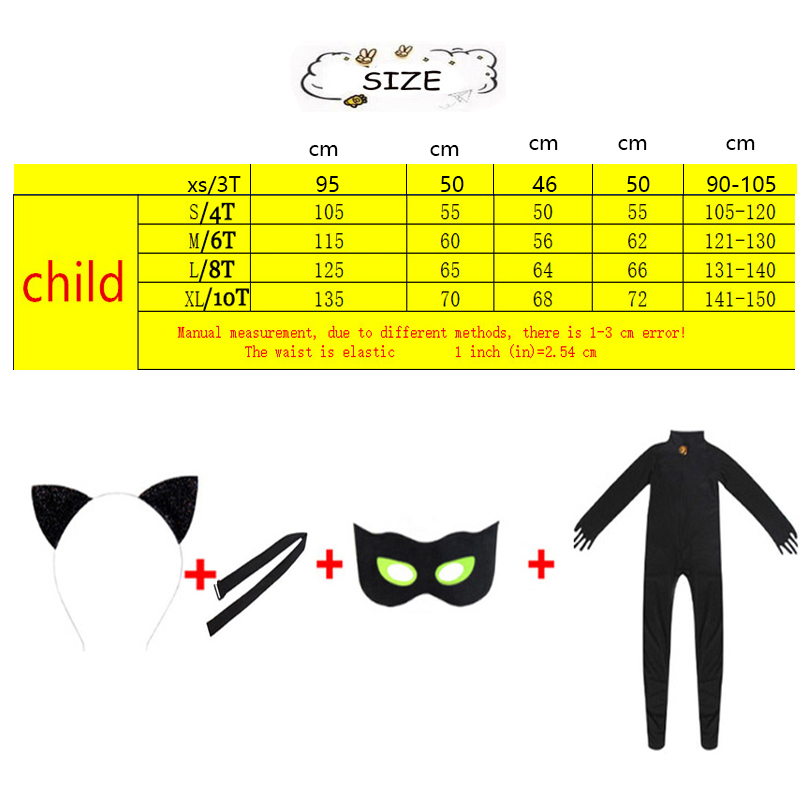 H7217038597264694ac16eee8b4d2d66ff - Child Black Cat Noir Cosplay Costume Magic Halloween Christmas Jumpsuit Boy Adrian Marinette Super Hero Cosplay
