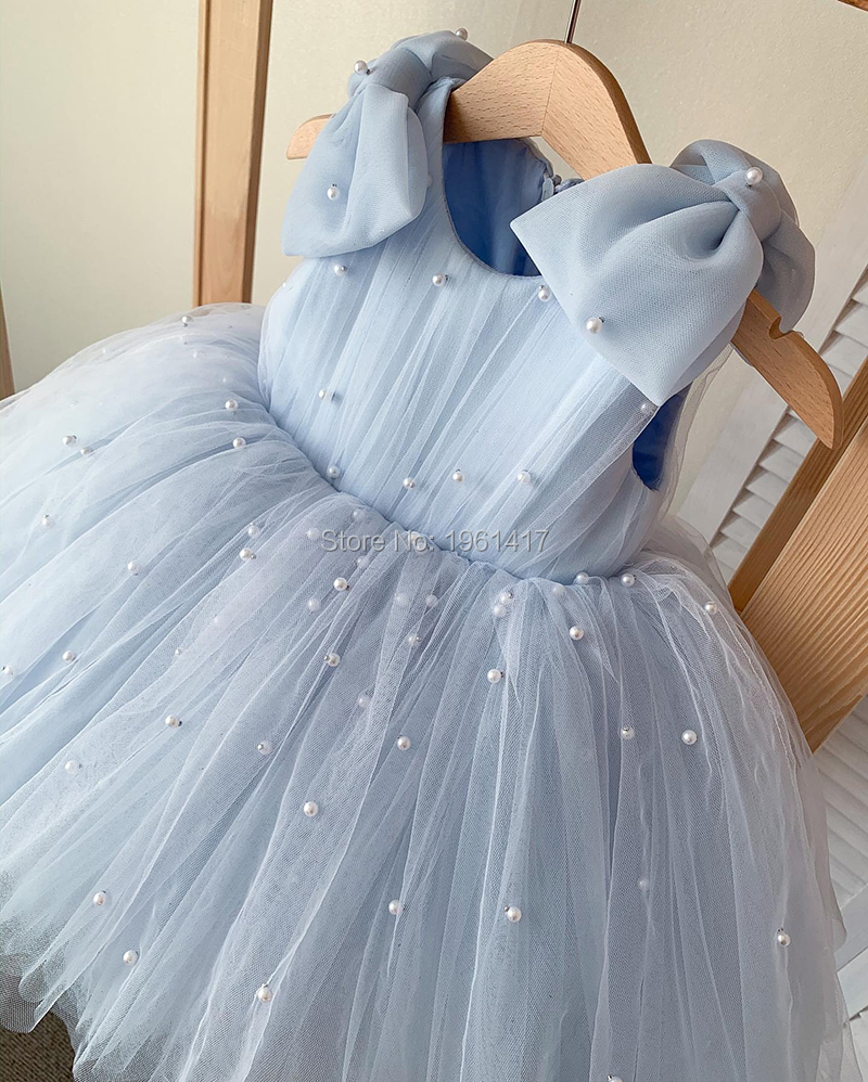 Hot Lace Flower Girls Wedding Dress Baby Girls Christening Cake Dresses For Party Occasion Kids 1 Year Baby Girl Birthday Dress