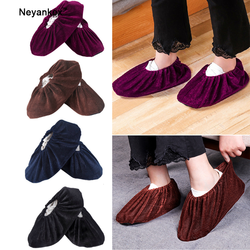 1Pair Thickened Men Women Shoes Cover Protect For Inside The House Non-Slip Washable Reuseable Boot Dust Cover No Dirt On Floors