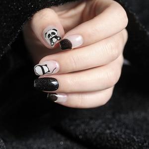 Image 2 - Neue angekommene 3D Nagel Aufkleber Abziehbilder 1 blatt panda kuchen hund Sommer Adhesive Aufkleber Nail art Tattoo Dekoration Z0170