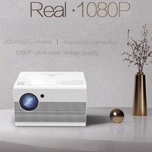 Salange T10 projektor Led Full HD przenośny kino domowe 1920*1080 rzutnik 4000 lumenów 1080P USB HDMI Beamer Android