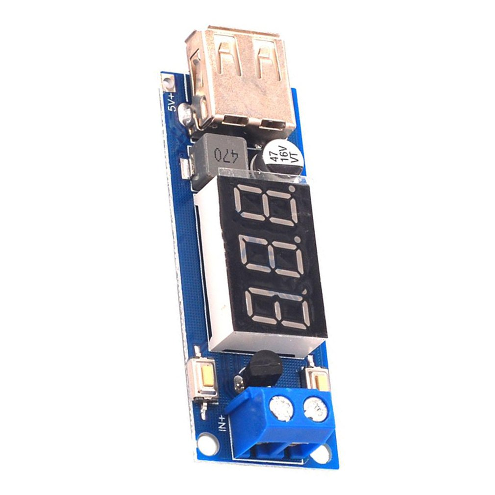 12V To 5V Step-Down Module Dc-Dc 3A Dc Power Module Led Battery Car Voltmeter Module
