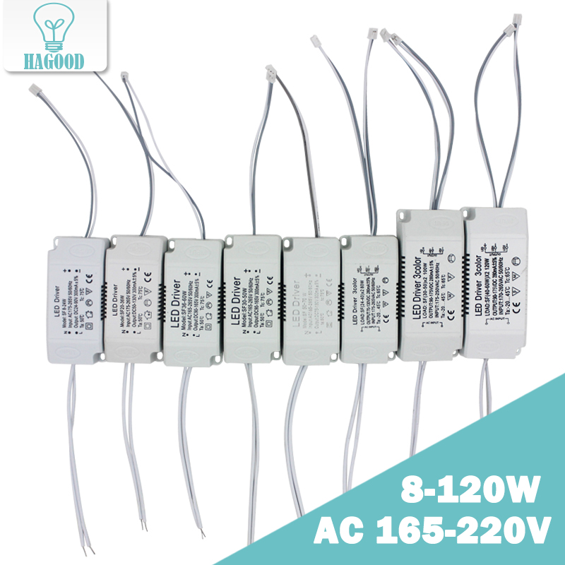 8-120W Input AC 220V Current 220-300mA  Non-Isolating Lighting Transformer Constant LED Driver Power Supply Adapt For Led Light
