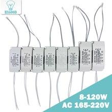 Fonte de alimentação, 8 120w entrada ac 220v corrente 220 300ma não isolante treiber transformador driver constante fonte de alimentação adaptador para luz led