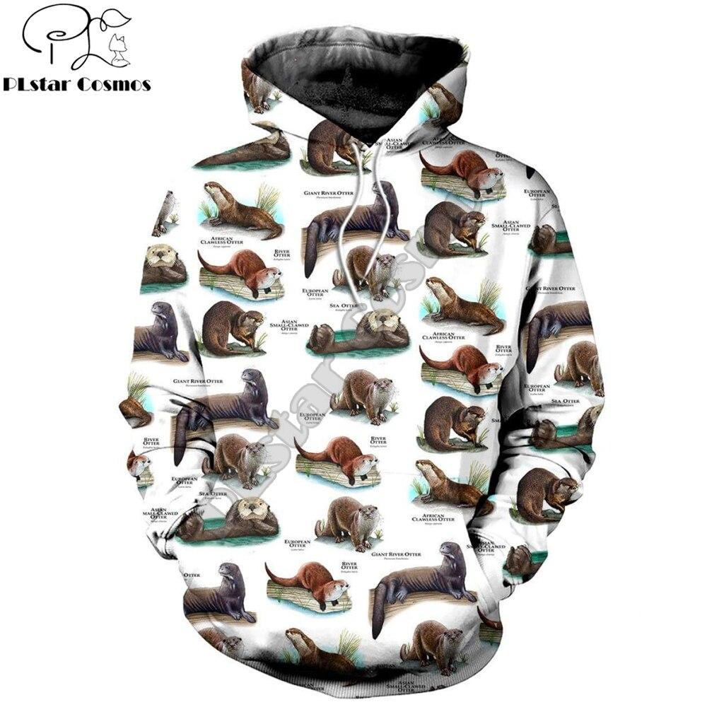 2019 New Fashion Mens hoodies 3D All Over Printed Otters Of The World Shirts and Sweatshirt Harajuku streetwear sudadera hombre