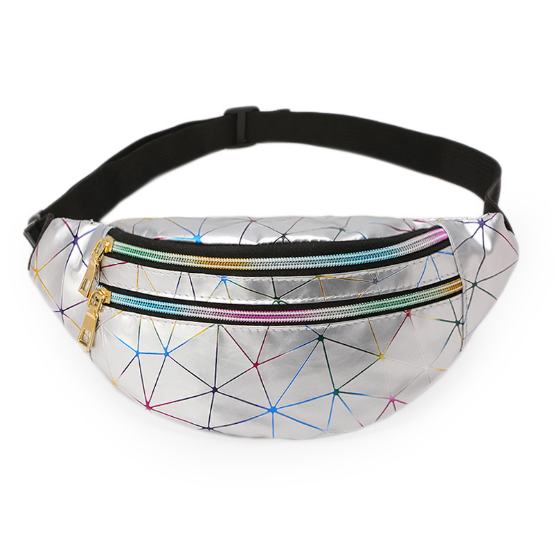 Waterproof Hologram Funny Chest Pack Laser Bum Bag Waist Bags Women Designer Fashion Pink Belt Bags Travel Leather Phone Pouch
