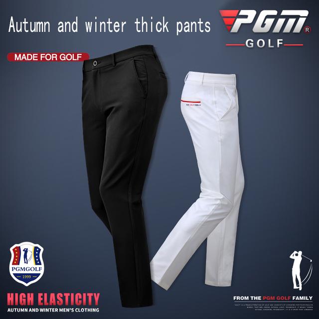 Golf High Elastic Sports  Pants Plus Thick Autumn Winter Models Slim Fit