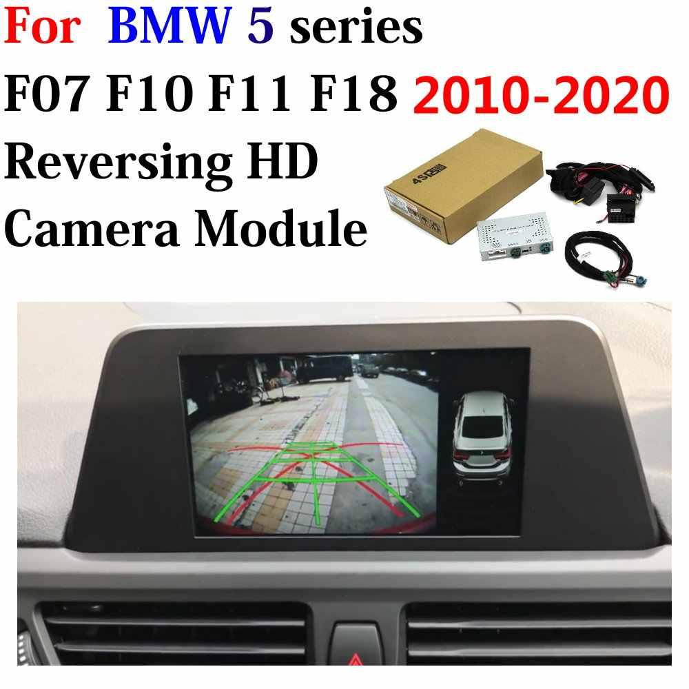 Hiển Thị Gốc Nâng Cấp Hệ Thống Cho Xe BMW Series 5 F07 F10 F11 F18 2010 ~ 2020 Xe Phía Sau Đảo Ngược Đậu Xe Máy Ảnh giao Diện Bộ Giải Mã