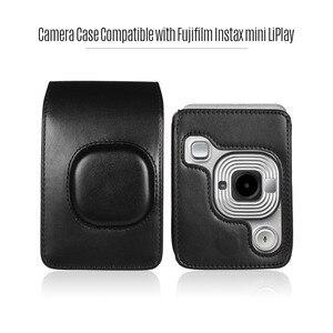 Image 4 - Compact Size Instant Camera Case Tas Compatibel Met Fujifilm Fuji Instax Mini Liplay Pu Leer Met Schouderband