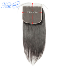 Fechamento reto do cabelo humano do virgin brasileiro do fechamento 7x7 do laço fechamentos crus da estrela nova pré arrancado da linha fina com cabelo do bebê