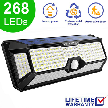268 LED Street Lights Garden Light Wall Light Outdoor Solar Lamp Waterproof IP65 Lights Solar Lamps PIR Motion Sensor Wall Lamp