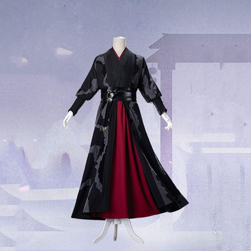 Mo Dao Zu Shi Wei Wuxian exquis grand maître de Costume de Cosplay démoniaque adulte Style chinois Wei Ying Hanfu vêtements de Cosplay - 6