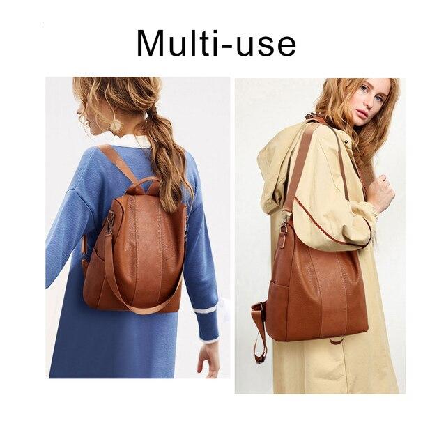 Модный женский рюкзачок с защитой от кражи содержимого 2