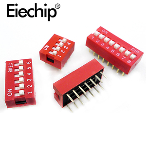 DIP Switch Slide Type Switch 2.54mm Pitch Position Way DIP Red Toggle Switch 1P 2P 3P 4P 5P 6P 7P 8P 9P electronic diy kit(China)