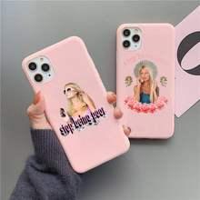 Paris hilton parar de ser pobre caso de telefone para iphone 12 11 pro max mini xs 8 7 6s plus x se 2020 xr doces rosa silicone capa