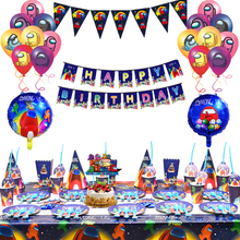 Disposable Tableware Balloon Party-Supplies Happy-Birthday-Decoration Among Paper Cup-Plate