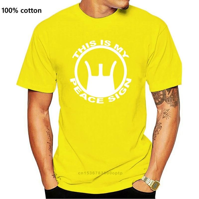 This Is My Peace Sign T-shirt M16 Rifle Pistol Pro Gun Ar 15 M4 .223 Ak Tshirt Print Casual T-shirt Men Brand coat clothes tops
